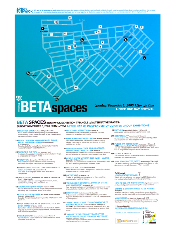 BETA-Spaces-2009-Map-Flier